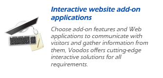 Interactive website add-on applications
